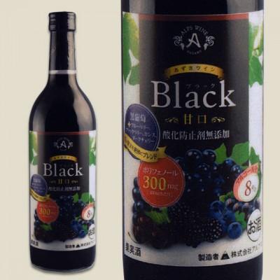 アルプス あずさワイン ブラック甘口 (赤) 720ml